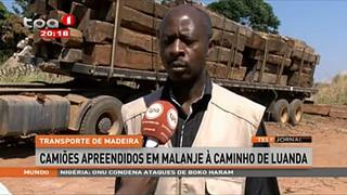 Transporte de Madeira - Camio?es apreendidos em Malanje a? caminho de Luanda