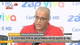 Afroliga em Basquetebol 1º de Agosto vence Petro no jogo da primeira ma?o dos qu