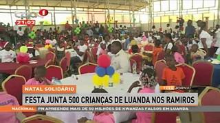 Natal solida?rio - Festa junta 500 crianc?as de Luanda nos Ramiros