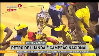 """Pretro de Luanda eé Campeão Nacional """"Basquetebol Sênior Masculino"""""""