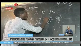 Jovem forma 7 mil pessoas a custo zero em 18 anos no Cuando Cubango