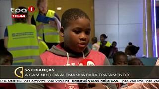 56 Crianc?as a? caminho da Alemanha para tratamento