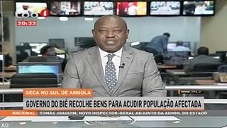 Seca no sul de Angola - Governo do Bie? recolhe bens para acudir populac?a?o afe