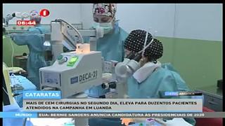 Cataratas, mais de 500 consultas de optometria realizadas em dois dias no hospit