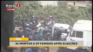 RDC 34 mortos e 59 feridos após eleições