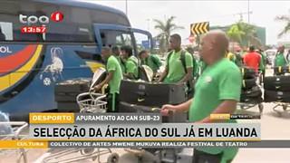 Apuramento ao CAN Sub 23- Selecc?a?o da Africa do Sul ja? em Luanda