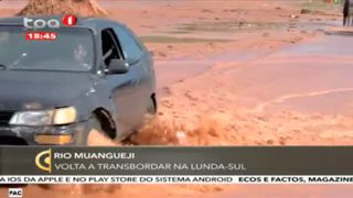 Rio Muangueji - Volta a transbordar na Lunda Sul