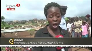 Chuva orivoca danos no Cuanza-Norte