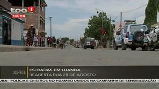 Estradas em Luanda - reaberta rua 28 de Agosto