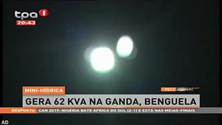 Mini-hi?drica gera 62 kva na Ganda, Benguela