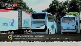 Viagem Saurimo-Luanda - compra de bilhete de passagem com dias antecede?ncia