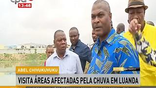 Abel Chivukuvuco visita a?reas afectadas pela chuva em Luanda