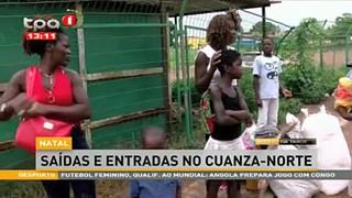 Natal - Sai?das e entradas no Cuanza-Norte