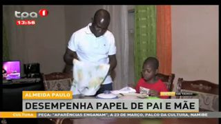 Almeida Paulo desempenha papel de pai e ma?e