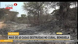 mais de 40 casas destruidas por um ince?ncio no Cubal, Benguela
