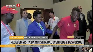 Palancas Negras recebem visita da Ministra da Juventude e Desportos