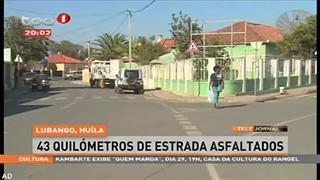 Lubango, Hui?la - 43 quilo?metros de estrada asfaltados