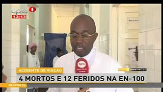 Acidente de viac?a?o faz 4 mortos e 12 feridos na EN-100