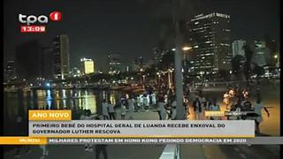 Ano novo - Primeiro bebe? do Hospital Geral de Luanda recebe enxoval do Governad