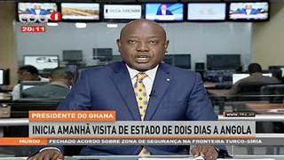 Presidente do Ghana - Inicia amaha? visita de estado de dois dias a Angola