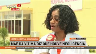 Morte no hospital Kapalanga