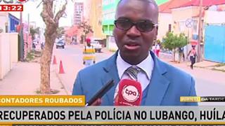 Contadores roubados recuperados pela policia no Lubango-Huila
