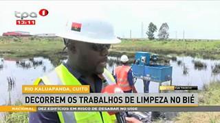 Rio Kaluapanda, Cuito decorrem os trabalhos de limpeza no Bie?