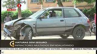 Viaturas Sem Seguro - Infractores multados em Ndalatando
