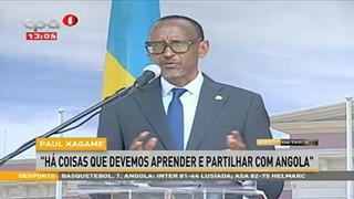 """Paul Kagame """"Ha? coisas que devemos aprender e partilhar com Angola"""""""