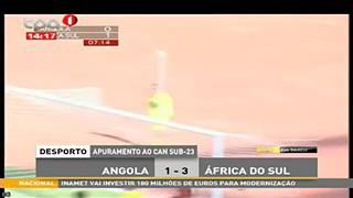 Apuramento ao CAN Sub-23, Angola 1-3 A?frica do Sul