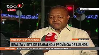 Presidente da República realiza visita de trabalho à provi?ncia de Luanda