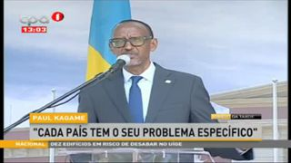 "Paul Kagame ""Cada pai?s tem o seu problema especi?fico"""