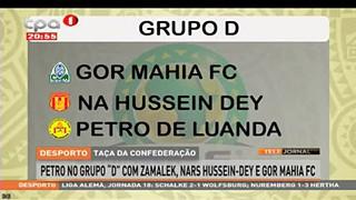 Petro no grupo D com Zamalek, Nars Hussein-Dey e Gor Mahia FC