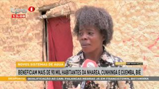 Novos sistemas de a?gua beneficiam mais de 90 mil habitantes da Nharea, Cunhinga