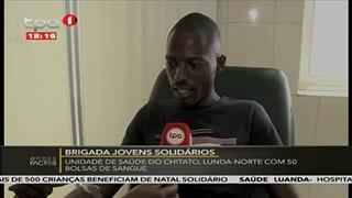 BJS doa 50 Bolsas de sangue na Unidade de Sau?de do Chitato, Lunda-Norte