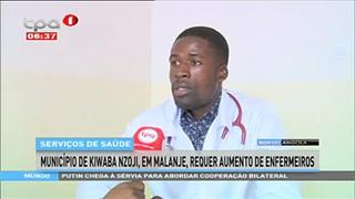 Munici?pio de Kiwaba Nzoji, em Malanje, requer aumento de enfermeiros