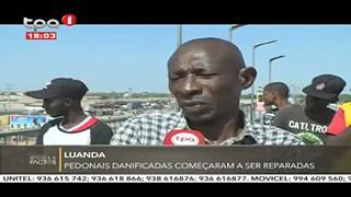Luanda - Pedonais danificadas comec?am a ser reparadas