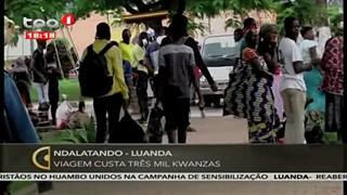 Ndalatando - Luanda- Viagem custa tre?s mil Kwanzas