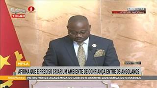 MPLA - Afirma que e? preciso criar um ambiente de confianc?a entre os Angolanos