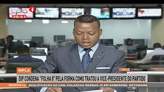 "MPLA, DIP condena ""Folha 8"" pela forma como tratou a vice-presidente do partido"