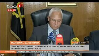 Marginal da Corimba - Anulac?a?o do contrato vai poupar ao estado 380 milho?es d
