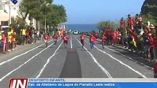 Esc. de Atletismo de Lagoa do Planalto Leste realiza pela primeira vez prova de