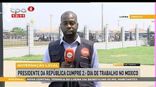 Presidente da Repu?blica - Inaugura Hospital de camanongue