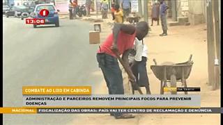 Combate ao Lixo em Cabinda - Administrac?a?o e parceiros removem principais foco
