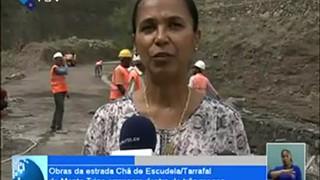 Obras de estrada Chã de Escudela/Tarrafal de Monte Trigo, Santo Antão, arrancam