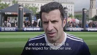 Luís Figo sobre a campanha pela igualdade pela UEFA
