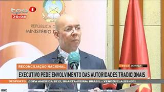 """Executivo pede envolvimento das autoridades tradicionais """"Reconciliação Nacional"""