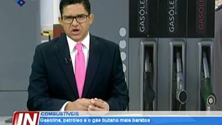Gasolina, petróleo e o gás butano mais baratos