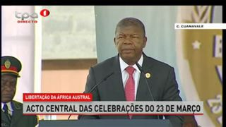 Discurso do Presidente da República de Angola João Lourenço no acto Central d
