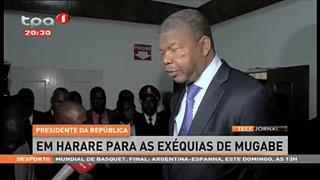 Presidente da República em Harare para as Exéquias de Mugabe